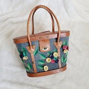 Patricia Nash Levanzo Floral Denim Market Tote